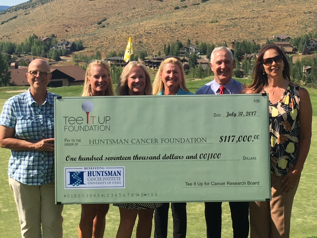 Teeitup foundation presents Huntsman Cancer Foundation a check for $117,000 2017